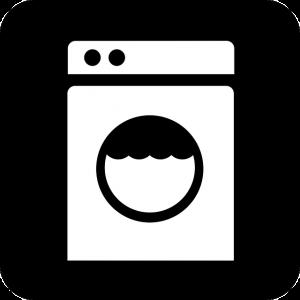 白黒の洗濯機の絵