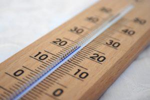 20度の温度計
