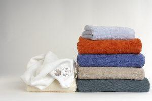 洗濯したタオル