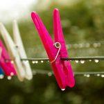 雨の洗濯物