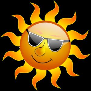 日差しが強い太陽