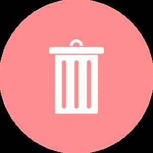 ピンクのゴミ箱のマーク