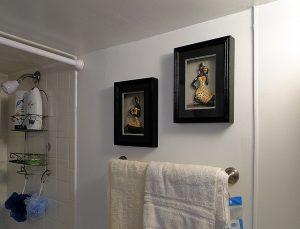 浴室にかかったバスタオル