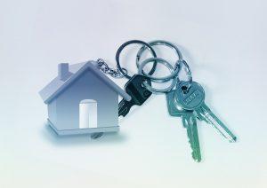 家の鍵を付けるキーホルダー