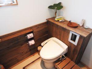 ウォシュレットが付いている家のトイレ